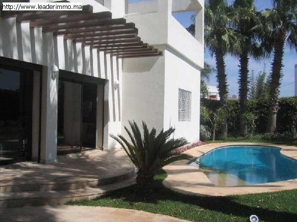 Rabat Souissi La chaumière  villa meublée 1000 m²