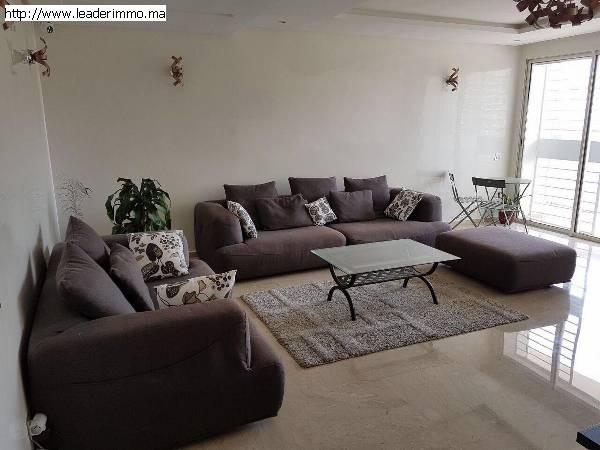 Rabat hay riad (Projet Prestigia) appartement meublé 145 m²