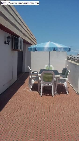 Rabat Haut Agdal: location Appartement meublé avec terrasse.