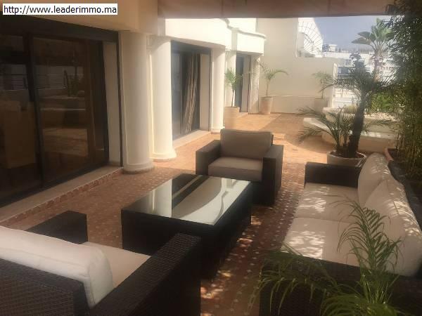 Rabat Agdal appartement meublé 320 m²