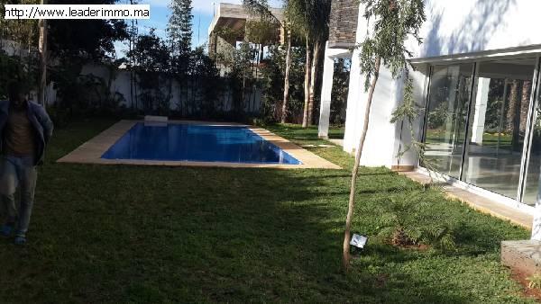 Rabat Souissi villa à louer 1000 m²
